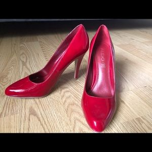 Aldo Red Patent Leather Pumps in Size 38 (8)
